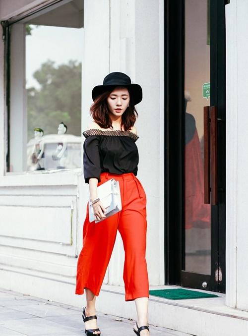 mặc đẹp với quần culottes