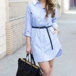 F5 phong cách thời trang công sở với áo sơ mi dáng dài
