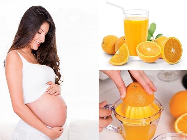 Nước cam thực phẩm bổ dưỡng dành cho bà bầu
